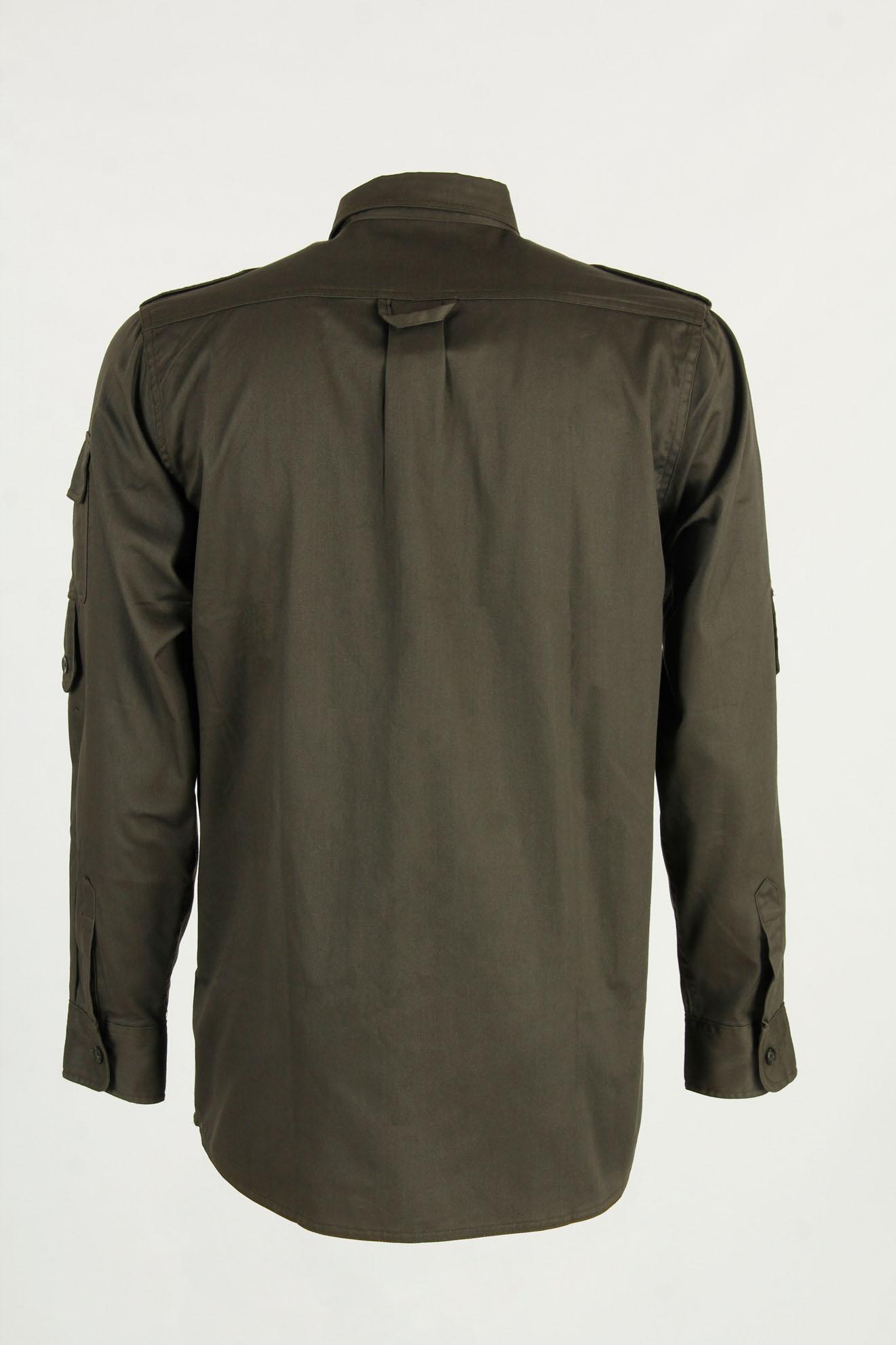 camicia verde cotone