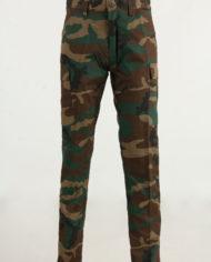 Pantalone cotone mimetico